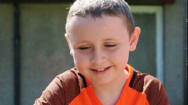 Little fighter: Garvie Winter is fighting leukaemia.