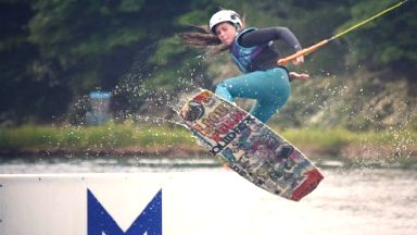 Wakeboarding: Eve won national championships.
