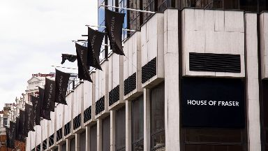 Chain: House of Fraser store on Victoria Street in London (file pic).