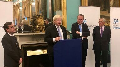 Boris Johnson was speaking at a gathering of the Conservative Way Forward.