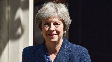 Theresa May had hard talks with David Davis over the 'backstop'.