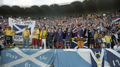 Scotland fans travelled in large numbers to Bordeaux.
