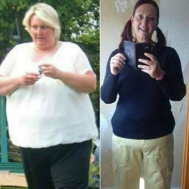 The 47-year-old shed 11 stone in two years.
