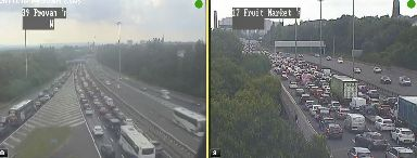 M8: Traffic collision causing major delays.