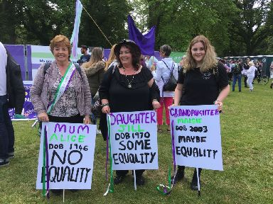 Family affair: Grandmother, mother and daughter attend event.