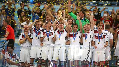 Germany hold aloft the World Cup in 2014.