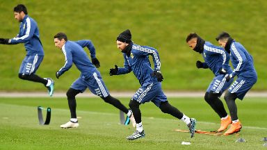 Lionel Messi trains as Argentina warm up for the World Cup.