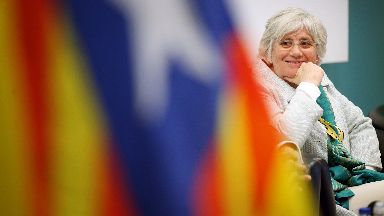 Clara Ponsati: Ex-minister at the SNP's spring conference in Aberdeen.