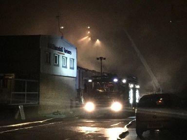 SP Fireworks blaze