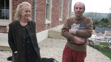 Susie and Esmond Bulmer outside their home in Somerset.