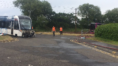 Bus: Driver is in hospital with injuries.