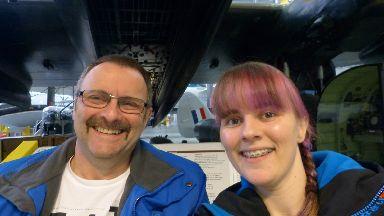 Trip: Stuart and his daughter visiting the war museum.