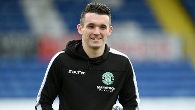 John McGinn has been left out of Hibs' squad to face NSI Runavik.