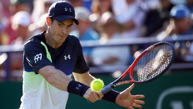 Andy Murray got off to a winning start at Eastbourne.