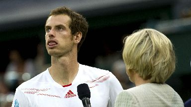 An emotional Andy Murray speaks to the BBC after losing in the 2012 final.