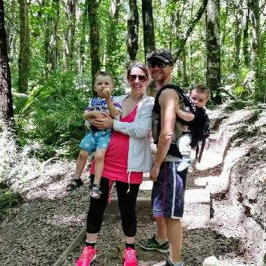 The family enjoy a bushwalk near to their home in Waikanae.