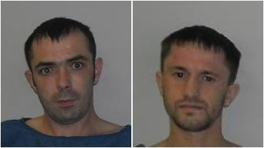 Jailed: Laurie (left) and Gibb will each serve at least 18 years.