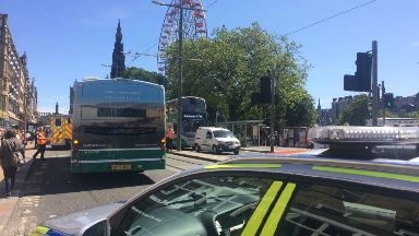 Bus: Emergency services at the scene.
