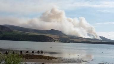 Ben Bhraggie wildfire.