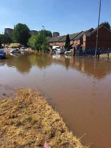 Severn Trent Water said it was 'working hard' to restore supplies