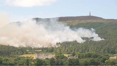 Smoke: Residents advised to keep windows closed.
