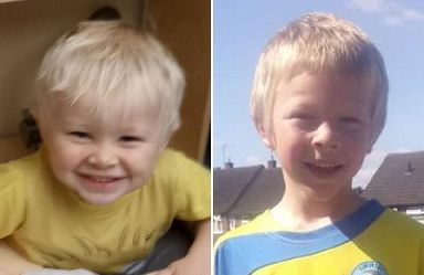 Two-year-old Casper Platt-May (left) and six-year-old Corey Platt-May, who were killed in a hit-and-run by Robert Brown