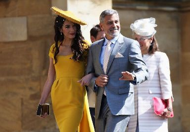 Amal and George Clooney attended the royal wedding recently.