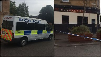 Reidvale Street: Roads were cordoned off by police.