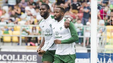 Odsonne Edouard and Moussa Dembele start in attack for Celtic against Alashkert.
