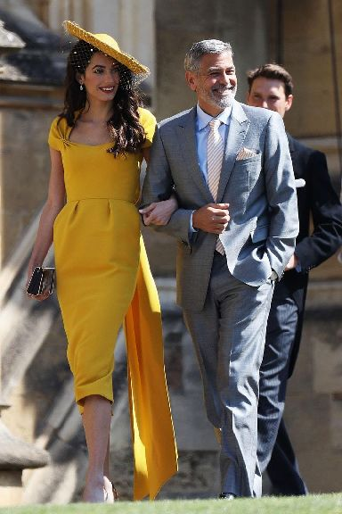 Clooney recently attended the royal wedding with wife Amal