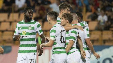 Celtic celebrate Odsonne Edouard's (left) opener.