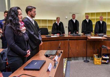 Beate Zschaepe in court in Munich