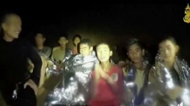 The Wild Boars youth football team became trapped in the cave on June 23.