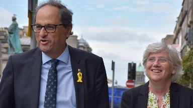 Vote: Quim Torra (left) met with Clara Ponsati.