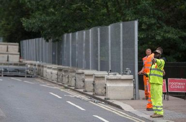 Security preparations ahead of Donald Trump's visit to the UK