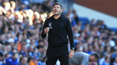 Steven Gerrard takes charge of his first competitive match as Rangers boss against Shkupi.