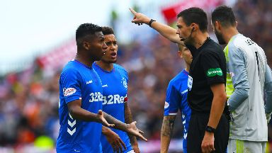 Kevin Clancy ordered Morelos off.