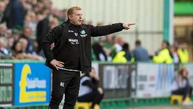 Neil Lennon's Hibs were held to a goalless draw at Easter Road by Molde.