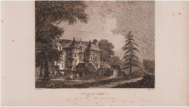 Scotia Depicta: 1804 drawing of castle by artist John Claude Nattes.