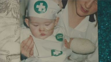 Taylor was just five months old when she contracted the infection.