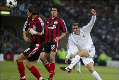Zidane's wonder goal for Real Madrid in 2002.