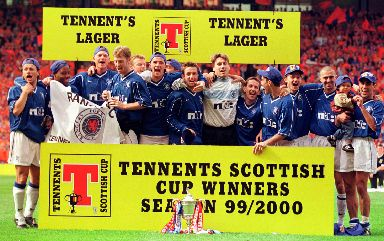 Scottish Cup Final: Rangers clinched the treble in 2000.