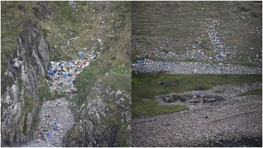 Some of the images taken from the air.