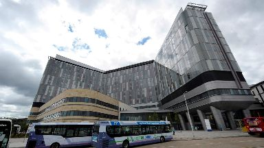 Glasgow: The crisis-hit Queen Elizabeth University Hospital.