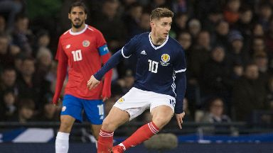 Injured: Tom Cairney is to miss Scotland's looming double-header.