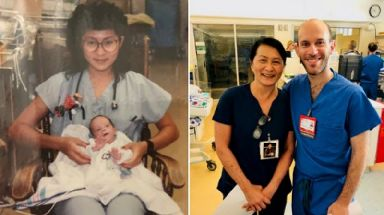 A chance encounter between a nurse and her former patient, 28 years later.
