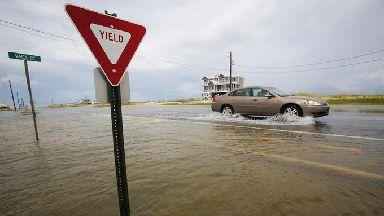 A car drives slowly in Alabama.