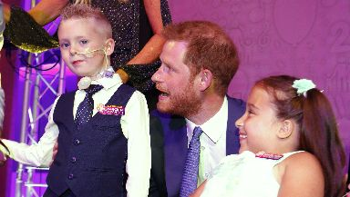 In his speech, Prince Harry said the young winners were  inspirational.