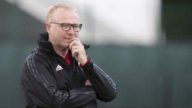 Decision: McLeish has named his side.