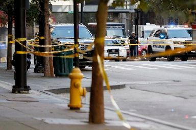 The gunman was 'shooting innocent victims', the mayor said